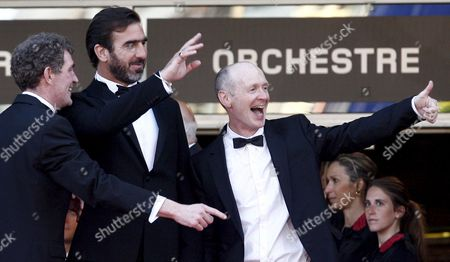 French Actor and Former Football Player Eric Cantona (c) and Steve Evets (l) Arrive For the Gala Screening of the Film 'Looking For Eric' by Ken Loach Running in Competition in the 62nd Edition of the Cannes Film Festival in Cannes France 18 May 2009