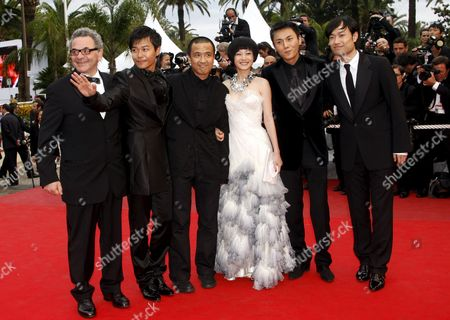 2ndl-r Chinese Actor Chen Sicheng Director Lou Ye Actress Tan Zhuo Actor Qin Hao and Actor Wu Wei Arrive For the Gala Screening of the Chinese Film 'Chun Feng Zui De Ye Wan' (spring Fever) by Lou Ye Running in Competition For the 62nd Edition of the Cannes Film Festival in Cannes France 14 May 2009