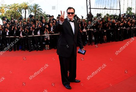 Us Director Quentin Tarantino Arrives For the Gala Screening of the Film 'Vengeance' by Johnny to Running in Competition During the 62nd Edition of the Cannes Film Festival in Cannes France 16 May 2009
