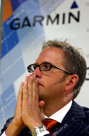 Garmin-chipotle Team Director Jonathan Vaughters Speaks at a Press Conference in the Media Center Ahead of Saturday's Departure of the 2008 Tour De France Cycling Race in Brest France On 03 July 2008