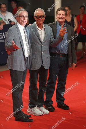 Us Directors (l to R) Jerry Zucker Jim Abrahams and David Zucker Pose On the Red Carpet Before the Screening of 'Top Secret!' During the 35th American Film Festival of Deauville in Deauville France 08 September 2009 the Festival is Scheduled For 04 September to 13 September 2009