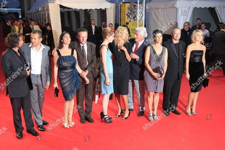 Members of the Jury (l-r) Director Bruno Podalydes Director and Actor Dany Boon Actor Geraldine Pailhas Director Patrice Leconte Actor Deborah Francois Actor Sandrine Kiberlain Member of French Academy Jean-loup Dabadie Director Hiam Abbas Director and President Jean Pierre Jeunet Actor Emilie Dequenne Pose On the Red Carpet For Photographers Before the Screening of the Film 'Me and Orson Welles' During the 35th International Film Festival of Deauville in Deauville France 06 September 2009 the Festival is Scheduled For 4- 13 September 2009 September 2009