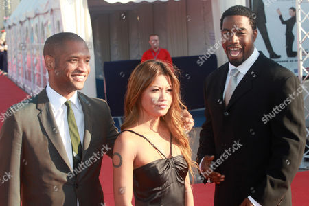 (l-r) Us Director Scott Sanders Filipino-born Us Actress Charmane Star and Us Actor Michael Jai White Attend the Premiere of the Movie 'Black Dynamite' During the 35th American Film Festival of Deauville in Deauville France 12 September 2009 the Movie is Presented out of the Competition at the Festival Running From 04 to 13 September