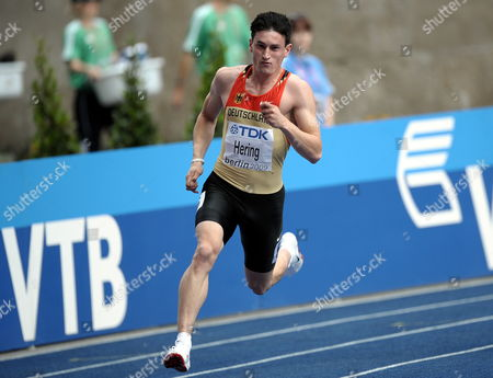 Stock Photo of Robert Hering of Germany Competes in the 200m Heat 1st Round at the 12th Iaaf World Championships in Athletics Berlin Germany 18 August 2009 Germany Berlin