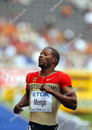 Aleixo-platini Menga of Germany Competes in the 200m Heat 1st Round at the 12th Iaaf World Championships in Athletics Berlin Germany 18 August 2009