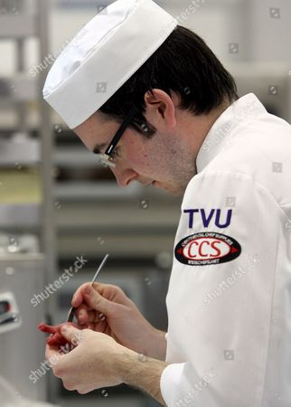 Will Torrent of United Kingdom Concentrates During the Confectioner/pastry Cook Category Competition of the 39th World Skills Competition in Numazu City Shizuoka Province 16 November 2007 816 Participants From 46 Countries Are Participating in This Year's Event
