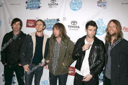 Maroon 5 - Matt Flynn, Jesse Carmichael, Michael Madden, Adam Levine and James Valentine