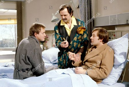 'Only When I Laugh' TV - 1979 - Figgis[James Bolam], Glover [Peter Bowles] and Norman [Christopher Strauli]