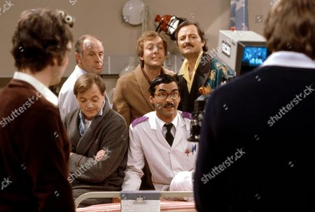 'Only When I Laugh' TV - 1981 - When a TV crew arrives to make a programme about the hospital, the patients fight for stardom.  Figgis [James Bolam], Thorpe [Richard Wilson], Norman [Christopher Strauli], Glover [Peter Bowles] and Gupte [Derrick Branche].