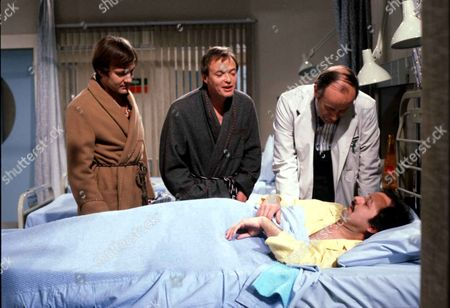 'Only When I Laugh' TV - 1979 - Norman [Christopher Strauli] Figgis[James Bolam] Thorpe [Richard Wilson] and Glover [Peter Bowles]