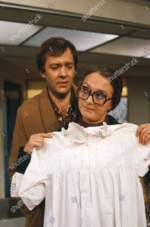 'Only When I Laugh' TV - 1982 - Norman Binns [Christopher Strauli] and fiancee Deirdre [Diane Bull].
