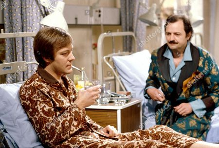 'Only When I Laugh' TV - 1979 - Norman [Christopher Strauli] and Glover [Peter Bowles]