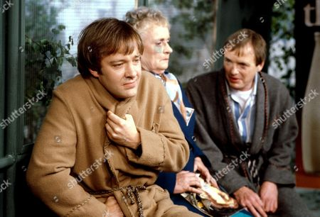 'Only When I Laugh' TV - 1979 - Norman [Christopher Stauli], a lady [Patsy Smart] and Figgis [James Bolam]