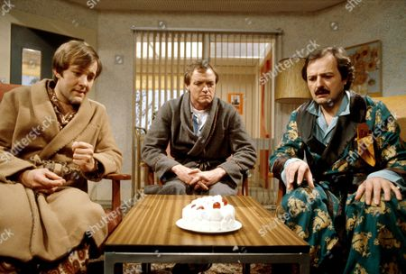 'Only When I Laugh' TV - 1979 - Norman [Christopher Strauli] Figgis[James Bolam] and Glover [Peter Bowles]