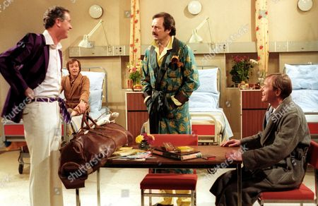 'Only When I Laugh' TV - 1980 - Norman [Christopher Strauli], Glover [Peter Bowles], Figgis [James Bolam]