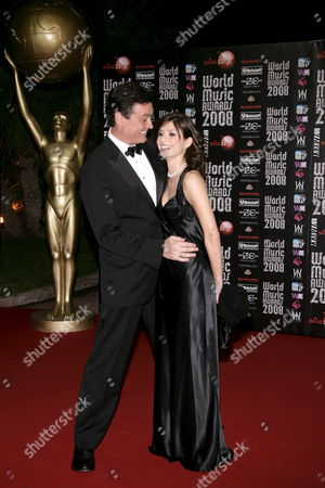 Stock Image of Us Actor Dan Mcvicar and Virginia De Agostini As They Arrive at the 2008 World Music Awards Ceremony at the Sporting Club 'Salle Des Etoiles' in Monaco On 09 November 2008