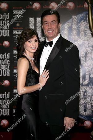 Stock Picture of Us Actor Dan Mcvicar and Virginia De Agostini As They Arrive at the 2008 World Music Awards Ceremony at the Sporting Club 'Salle Des Etoiles' in Monaco On 09 November 2008