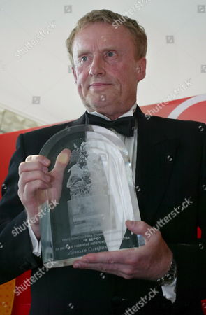 Polish Actor Daniel Olbrychski Poses with the Stanislavsky 'I Believe' Prize at the 29th Moscow Film Festival Russia 30 June 2007