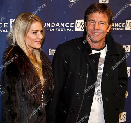 Us Actor Dennis Quaid (r) and His Wife Kimberly Buffington (l) Posses For Pictures Before the Premier of the Film 'Smart People' at the 2008 Sundance Film Festival in Park City Utah Usa 20 January 2008 the Sundance Film Festival is a Film Festival That Takes Place Annually in the State of Utah in the United States and is the Largest Independent Cinema Festival in the Us the Festival Started 17 January 2008 and Runs Through the 27 January 2008