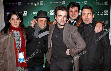 Spanish Director Nacho Vigalondo (c) Poses For a Picture with Co-producer Santi Camanas (2nd L) Associate Producer Nahikari Ipina (l) Associate Producer Cormac Regan (2ndr) and Producer Eduardo Carneros (r) Before the Premier of Their Film 'Times Crimes' at the 2008 Sundance Film Festival in Park City Utah Usa 18 January 2008 the Festival Started 17 January 2008 and Runs Through the 27 January 2008