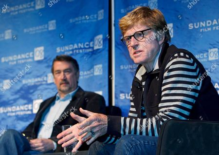 Robert Redford (r) President and Founder of the Sundance Film Festival Answers a Question During a News Conference at the Egyptian Theater As Geoffrey Gilmore (l) Director of the Sundance Festival Looks On at the 2008 Sundance Film Festival in Park City Utah Usa 17 January 2008 the Festival Starts 17 January 2008 and Runs Through the 27 January 2008