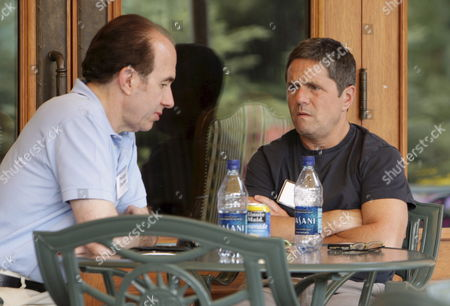 Viacom Ceo Philippe Dauman (l) and Paramount Ceo Brad Gray Talk On the Patio During a Break the Allen and Company Media and Technology Conference Sun Valley Idaho Usa 12 July 2007