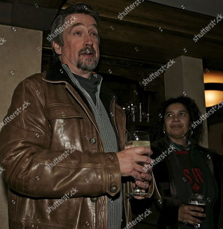 Director of the Sundance Film Festival Geoffrey Gilmore (l) Welcomes Guests to the Stella Artois Party As Shari Frilot (r) Sundance Programer Looks On During the 2007 Sundance Film Festival in Park City Utah Tuesday 23 January 2007
