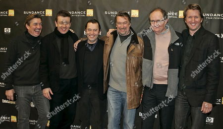 (l to R) Producer Andy Harris Producer Peter Morgan Hbo's Colin Callander Director of the Sundance Film Festival Geoffrey Gilmore British Actor Jim Broadbent and Director Tom Hooper Pose For a Picture Before the Premier of the British Film 'Longford' at the Eccles Theater During the 2007 Sundance Film Festival in Park City Utah Late Tuesday 23 January 2007