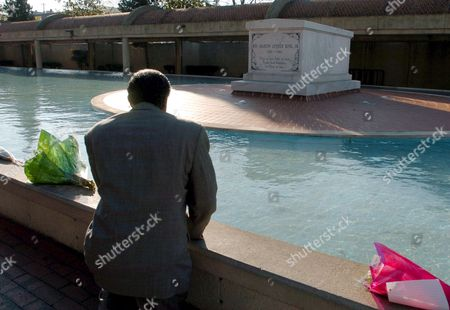 Georgia State Rep Douglas Dean (d-atlanta) Mourns the Death of Coretta Scott King 78 the Widow of Civil Rights Leader Martin Luther King Jr at His Tomb in Atlanta Georgia Tuesday 31 January 2006 King's Death Comes As She Was Recovering From a Stroke Last Summer