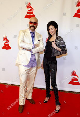 Andres Levin (l0 and Cucu Diamantes (r) of the Band Yerba Buena Arrive For the Latin Recording Academy Person of the Year Tribute in Las Vegas Nevada Usa 07 November 2007 the Latin Recording Academy is Honoring International Recording Artist Juan Luis Guerra On the Night Prior to the Latin Grammy Awards
