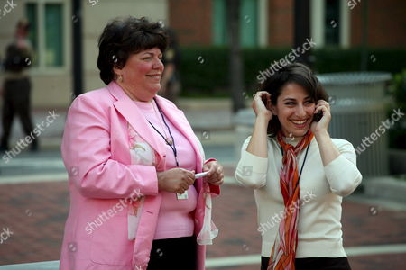 Family Members of Victims of the September 11 Attacks Carie Lemack (r) Lisa Dolan (l) Gather Following the Jury's Verdict in the Trial of Al-qaeda Plotter Zacarias Moussaoui Outside the United States District Court For the Eastern District of Virginia Wednesday 3 May 2006 Zacarias Moussaoui Was Sentenced to Life in Prison