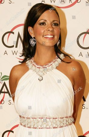 Country Music Artist Sarah Evans Who is Nominated For Female Vocalist of the Year is Seen Arriving For the 39th Annual Country Music Awards at Madison Square Garden Tuesday 15 November 2005 in New York This is the First Time the Awards Are Being Held in a City Other Than Nashville Tennessee