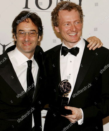 Don Mckellar (l) and Bob Martin (r) Hold Their Tony Award For Best Book of a Musical 'The Drowsy Chaperone' at the 60th Annual Tony Awards at Radio City Music Hall in New York Sunday 11 June 2006