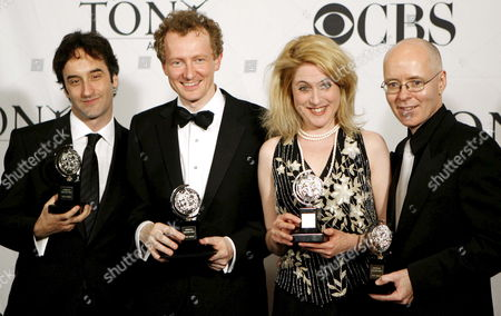 Don Mckellar (l) and Bob Martin (2nd L) Hold Their Tony Award For Best Book of a Musical 'The Drowsy Chaperone' While Standing with Lisa Lambert (3rd L) and Greg Morrison (r) Who Are Holding Their Tony Award For Best Original Score Written For Theater Also For 'The Drowsy Chaperone' at the 60th Annual Tony Awards at Radio City Music Hall in New York Sunday 11 June 2006
