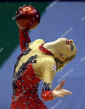Caroline Weber of Austria Performs Her Individual Apparatus Qualifications Programme Group a During the 25th Rhythmic Gymnastics European Championships Being Held in Baku Azerbaijan 15 May 2009