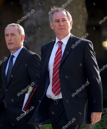 Secretary of Transport Geoff Hoon (r) and Minister of Defense John Hutton (l) Arrive at Downing Street For a Cabinet Meeting in London Britain 02 June 2009 Transport Secretary Geoff Hoon Has Become the Second Cabinet Minister in 24 Hours to Repay Money He Claimed On His Designated Second Home According to Bbc Sources Mr Hoon Claimed Bills in Advance For a Full Year On His Derbyshire Property But in the Same Year He Claimed a Different House Was His Second Home