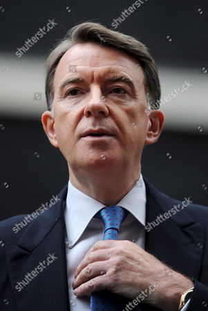 Business Secretary Lord Mandelson Talks to the Press at Downing Street in London 05 June 2009 Defence Secretary John Hutton Quit the Government 05 June Although He Says He Will Remain Loyal to Gordon Brown It Comes After James Purnell Quit As Work and Pensions Secretary with a Call For the Pm to 'Stand Aside' to Prevent Defeat at the Next Election Mr Brown is Reshuffling His Top Team As He Fights For His Political Future