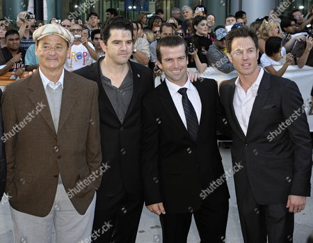 (l-r) Actor Bill Murray Director Aaron Schneider Actor Lucas Black and Producer Dean Zanuck Pose Before the World Premiere of Their Film Get Low at the 34th Annual Toronto International Film Festival in Toronto Canada On 12 September 2009
