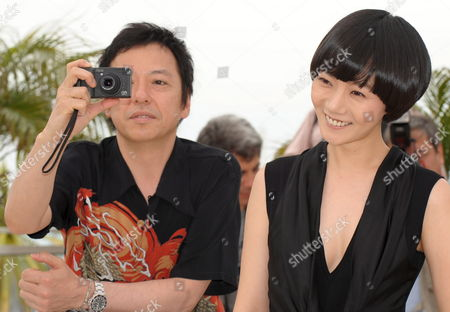 L-r Actors Itao Itsuji and Bae Doo-na Attend a Photocall For the Japonese Film 'Kuki Ningyo' (air Doll) by Kore-eda Hirokazun Running out of Competition For the 62nd Edition of the Cannes Film Festival in Cannes France 14 May 2009