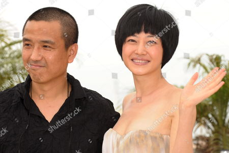 Director Lou Ye and Actor Tan Zhuo Attend a Photocall For the Chinese Film 'Chun Feng Zui De Ye Wan' (spring Fever) by Lou Ye Running in Competition For the 62nd Edition of the Cannes Film Festival in Cannes France 14 May 2009