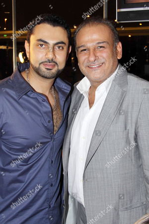 Egyptian Actor Mohamed Karim (l) and Syrian Actor Gamal Solaiman (r) Posing For Photographers During the 4th Rotana Magazine Annual Celebration in Cairo Egypt On 08 July 2009