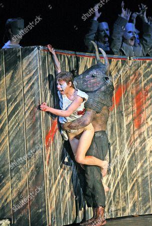 Rebecca Bottone  (An Innocent) and John Tomlinson (The Minotaur)