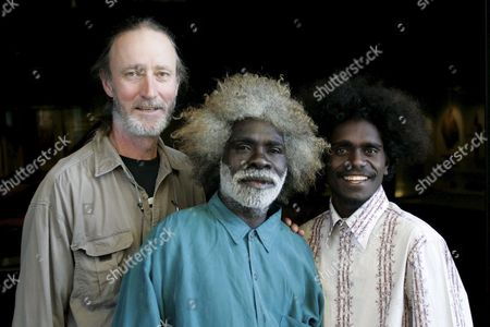 'Ten Canoes' Filmmaker Rolf De Heer (l) Co-director Peter Djigirr (c) and Co-star Jamie Gulpilil Attend the Exhibition '13 Canoes' Being Staged at the South Australian Museum in Adelaide Sunday 19 March 2006 the Trio Are in Adelaide For the Adelaide Film Festival's World Premiere of 'Ten Canoes' with an Entire Cast of People Indigenous to the Arafura Swamp in Northern-eastern Arnhem Land