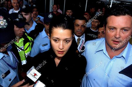 Stock Picture of Model Michelle Leslie Speaks to the Media Sydney Airport Tuesday Nov 22 2005 After Arriving From Singapore On an Early Morning Flight Leslie Was Deported From Bali After Being Convicted of Possession of Two Esctasy Tablets She Spent Three Months in Prison in Bal