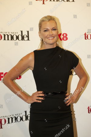 Stock Picture of Australia's Next Top Model Host Model Sarah Murdoch Poses For a Photograph at the Live Final in Sydney Australia 28 September 2010 Amanda Ware Was Eventually Named As the Real Winner of the Title After Host Sarah Murdoch Accidentally Announced Kelsey Martinovich As Being the Winner