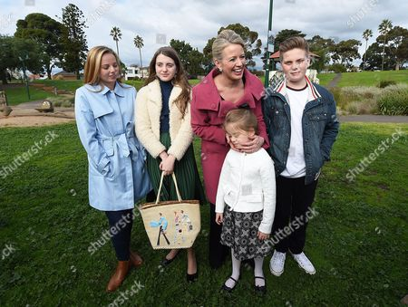 Family Members of Australian Federal Leader of the Opposition Bill Shorten Niece Alexandra Daughter Georgette Wife Chloe Daughter Clementine (front) and Son Rupert Listen As Mr Shorten Delivers a Press Conference at Maribyrnong Park in Maribyrnong Melbourne Victoria Australia 03 July 2016 with the Likelihood of a Hung Parliament Based On Australian Electoral Commission (aec) Data Both Australian Prime Minister Malcolm Turnbull and Australian Opposition Leader Bill Shorten Are Reportedly in a Race to Shore Up Crossbench Support to Form Minority Government in the Australian Parliament