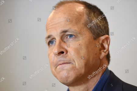 Australian Journalist Peter Greste Looks On As He Answers a Question During a Press Conference in Sydney Australia 30 August 2015 Greste and His Al Jazeera Colleagues Canadian-egyptian Mohamed Fahmy and Egyptian Baher Mohamed Have Been Sentenced On 29 August 2015 to Three Years in Jail Each by an Egyptian Court On Charges of Broadcasting False News and Working Without Permits in the Retrial of a Case That Has Highlighted the Country's Crackdown On the Media Greste Was Deported This Year to Australia and Tried in Absentia