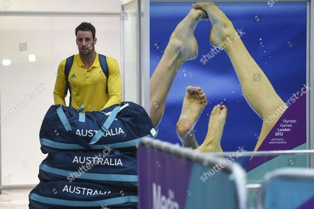 James Magnussen of the Australian Olympic Swimming Team Arrives at the Rio Galeao International Airport in Rio De Janeiro Brazil 31 July 2016 the Rio 2016 Olympics Start On 05 August