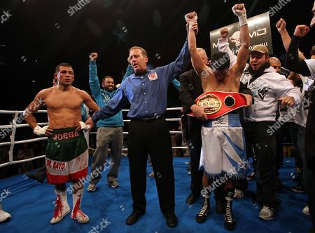Australian Featherweight Boxer Billy Dib Celebrates His Title Win For the Ibf (international Boxing Federation) World Featherweight Title at the State Sports Centre in Sydney Australia On 29 July 2011 Dib 25 From the Western Suburbs of Sydney Beat Jorge Lacierva 33 of Mexico in a Unanimous Points Decision