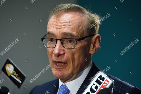 Stock Photo of Former Australian Foreign Minister Bob Carr Speaks to the Media in Sydney Australia 16 February 2016 Carr Said He Would Like to See a Slowdown in Population As Unrealistic Population Growth is Putting Pressure Housing and Urban Congestion According to the Australian Bureau of Statistics the Number of People in Australia Passed the 24 Million Mark On 16 February